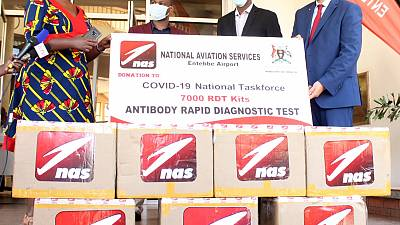 National Aviation Services (NAS) Donates Rapid Testing Kits to Assist the Ugandan Ministry of Health