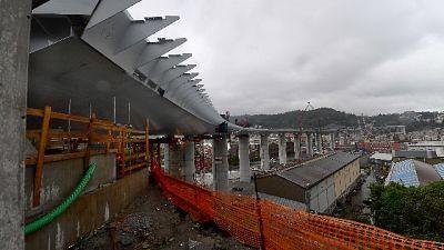 Ponte Genova: ripresi lavori in cantiere