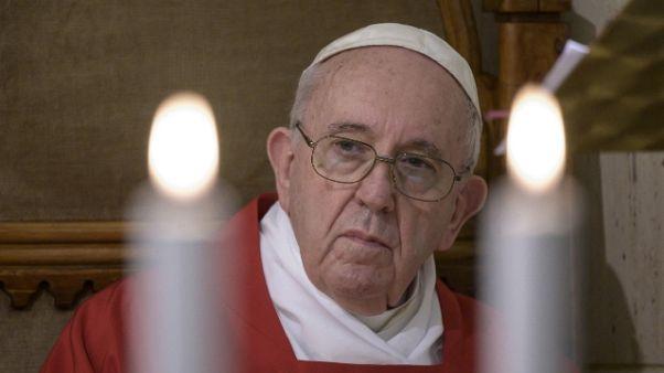 Papa,fedi unite per chiedere a Dio pietà
