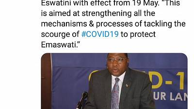 Coronavirus - Eswatini: One-month extension of the National Emergency in Eswatini