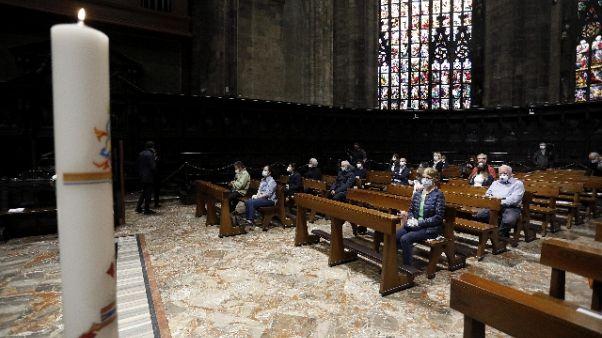 Prima messa a Duomo Milano dopo lockdown