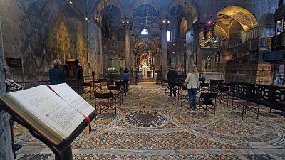San Marco Venezia,poca gente prima messa