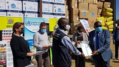 Coronavirus - Zambia: WHO Donates COVID-19 Supplies to MOH within the framework of the UN joint effort aimed at supporting government to scale up preparedness and response actions