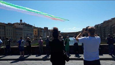 Passaggio Frecce Tricolori su Firenze
