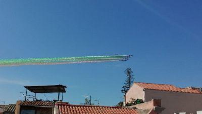 Spettacolo Frecce Tricolori su Cagliari