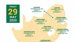 Coronavirus - South Africa: COVID-19 Statistics in South Africa, 29 May 2020