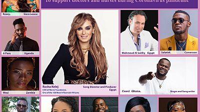 Rasha Kelej crée une chanson avec des chanteurs de 11 pays africains pour soutenir les personnels de santé pendant la lutte contre le coronavirus
