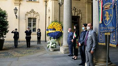 Piazza S.Carlo:cerimonia ricordo vittime