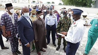Coronavirus - Nigeria: Dr. Osagie Ehanire leads Health Team to inspect 063 Nigeria Air Force COVID-19 Observation, Treatment Centre, directs accreditation team to work