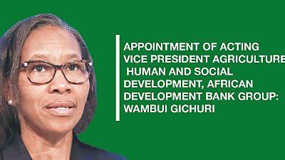 Vice-présidente par intérim, Agriculture, développement humain et social