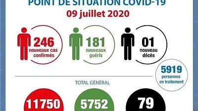 Coronavirus - Côte d'Ivoire: Point de la situation COVID-19 du 9 juillet 2020