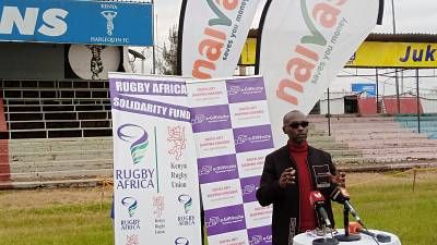 Kenya Rugby Union partners with Mobile Futures and Naivas to disburse Rugby Africa solidarity funds