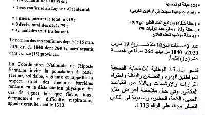 Coronavirus - Tchad : Communique - la situation épidémiologique du COVID-19 au Tchad du 07 septembre 2020