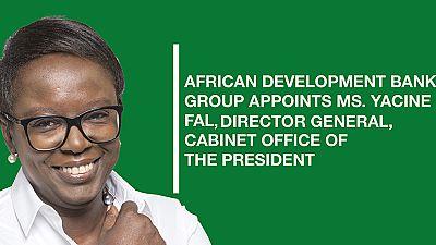 Le Groupe de la Banque africaine de développement nomme Mme Yacine Fal, Directrice générale du Cabinet du Président