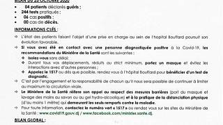 Coronavirus - Djibouti : Point de Presse sur la Situation COVID-19 le 23 octobre 2020