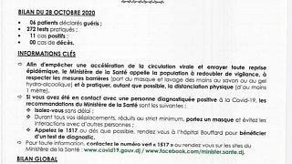 Coronavirus - Djibouti : Point de Presse sur la Situation COVID-19 le 28 octobre 2020