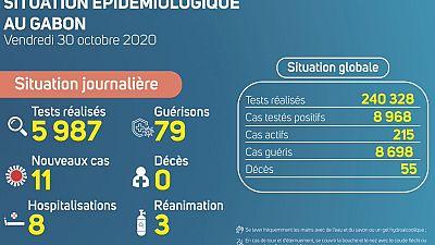 Coronavirus - Gabon : Situation Épidémiologique au Gabon (30 octobre 2020)