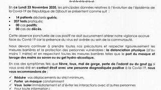 Coronavirus - Djibouti : Point de Presse sur la Situation COVID-19 le 23 novembre 2020