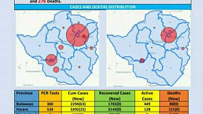 Coronavirus - Zimbabwe: COVID-19 Update (29 November 2020)