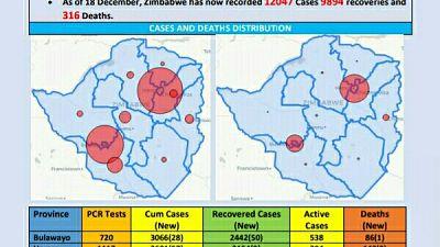 Coronavirus - Zimbabwe: COVID-19 Update (18th December 2020)
