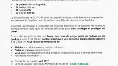 Coronavirus - Djibouti : Point de Presse sur la Situation COVID-19 le 19 décembre 2020