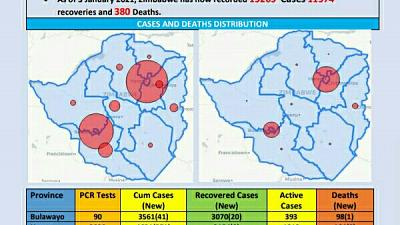 Coronavirus - Zimbabwe: COVID-19 Update (3rd January 2021)