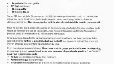 Coronavirus - Djibouti : Point de Presse sur la Situation COVID-19 le 8 janvier 2021