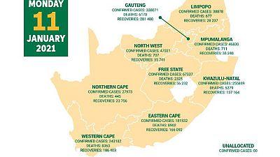 Coronavirus - South Africa: COVID-19 update (11 January 2021)