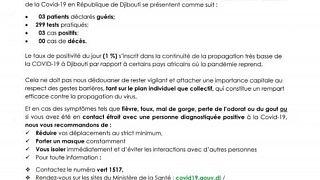 Coronavirus - Djibouti : Point de Presse sur la Situation COVID-19 le 15 janvier 2021