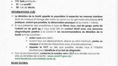 Coronavirus - Djibouti : Point de Presse sur la Situation COVID-19 le 25 janvier 2021