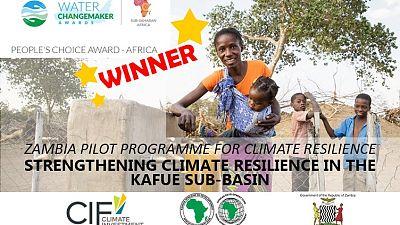 Résilience au changement climatique : un projet de la Banque africaine de développement en Zambie remporte le prix « Water ChangeMaker »