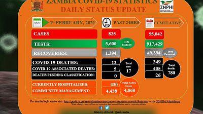 Coronavirus - Zambia: COVID-19 update (1 February2021)
