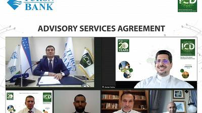 Signing of the Advisory Services Agreement between the Islamic Corporation for the Development of the Private Sector (ICD) and Turonbank, Uzbekistan