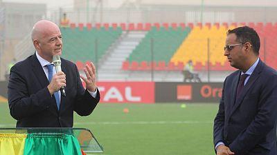 FIFA President kicks-off African visit with stadium inauguration in Mauritania