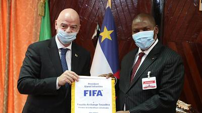 Football development highlighted in visit to the Central African Republic