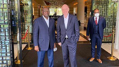 Le Président de la FIFA poursuit sa visite en Afrique