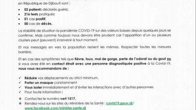 Coronavirus - Djibouti : Point de Presse sur la Situation COVID-19 le 28 février 2021