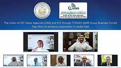 The Union of OIC News Agencies (UNA) and ICD through THIQAH (IsDB Group Business Forum) sign MoC to enhance cooperation in media field