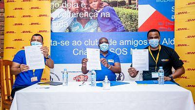DHL and SOS Children's Villages Mozambique renew GoTeach partnership agreement - online!