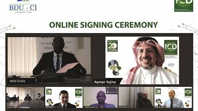 Signing of Line of Financing Agreement between the Islamic Corporation for the Development of the Private Sector (ICD) and Banque de l'Union - Côte d'Ivoire (BDU-CI)