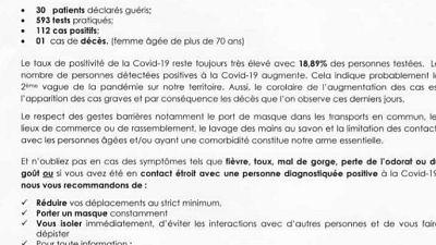 Coronavirus - Djibouti : Point de Presse sur la Situation COVID-19 le 28 mars 2021
