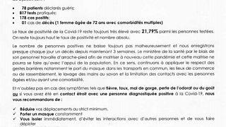 Coronavirus - Djibouti : Point de Presse sur la Situation COVID-19 le 1 avril 2021