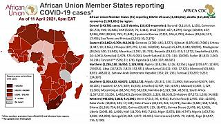 Coronavirus: African Union Member States reporting COVID-19 cases as of 11 April 2021, 6 pm EAT