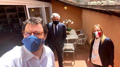 Tra i presenti Meloni, Tajani e Salvini
