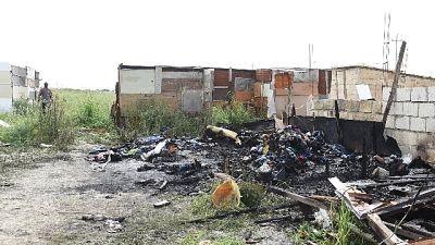 In un anno e mezzo quarta vittima per incendi nella baraccopoli