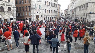 Protesta a Perugia contro modifiche per farmacologico