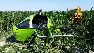 Finisce in campo di grano, cause al vaglio degli esperti