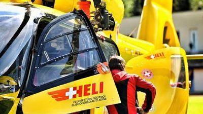 Ferito trasportato in elicottero in ospedale a Bolzano