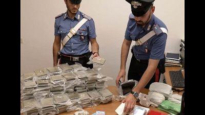 A Firenze, nell'abitazione 47 kg hashish e 1,7 di cocaina
