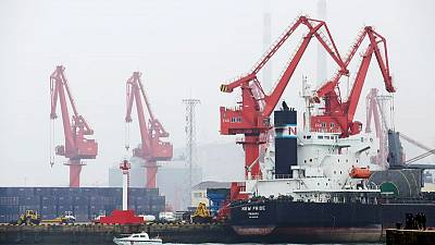 Oil spill near China's Qingdao port after ship collision in fog